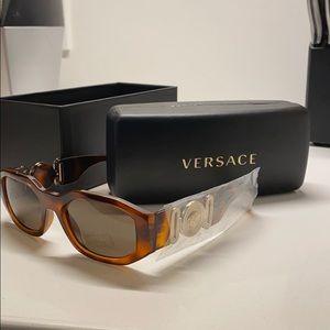 • NIB Versace Medusa Head Glasses Tortoise •